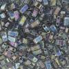 Miyuki Tila Half Cut 5X2.3mm 2Hole Dark Gray Transparent Aurora Borealis Luster